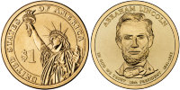 16-й президент Авраа́м Ли́нкольн/16th president Abraham Lincoln США (2010) UNC KM# 478
