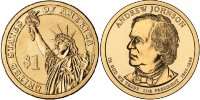 17-й президент Эндрю Джонсон/17th president Andrew Johnson США (2011) UNC KM# 499