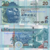 "20 долларов Гонгконг ""The Hongkong and Shanghai Banking Corporation"" (2009) UNC HK-NEW"